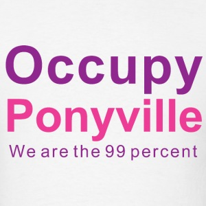 Bronies Occupy Ponyville v1a - Men's T-Shirt