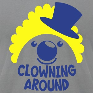 clowning around CLOWN FACE IN A TOP HAT T-Shirts - Men's T-Shirt by American Apparel