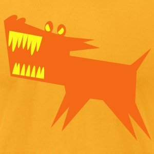 VICIOUS DOG monster baring his teeth T-Shirts - Men's T-Shirt by American Apparel