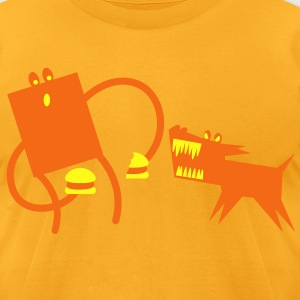 DOG CHEESEBURGER attack T-Shirts - Men's T-Shirt by American Apparel