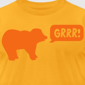 BEAR saying GRRR! so cute! T-Shirts - Men's T-Shirt by American Apparel
