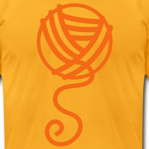 knitting simple ball of wool T-Shirts - Men's T-Shirt by American Apparel