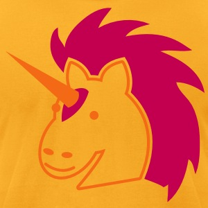 punk unicorn with bright hair T-Shirts - Men's T-Shirt by American Apparel