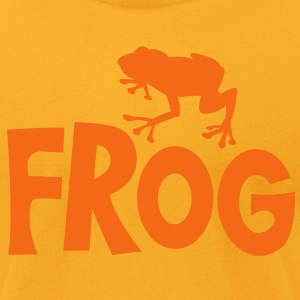 frog typo with cute little froggy T-Shirts - Men's T-Shirt by American Apparel