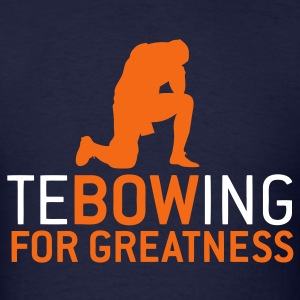 Tebowing For Greatness-Mens Broncos Colors - Men's T-Shirt