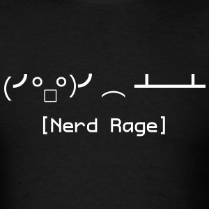 Nerd Rage Table Flip (Shirt) - Men's T-Shirt