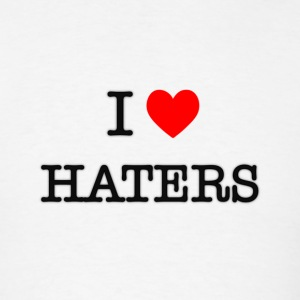 I Heart Haters - black T-Shirts - Men's T-Shirt