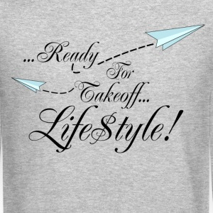 Simple Ready For Takeoff Lifestyle Long Sleeve Shirts - Crewneck Sweatshirt