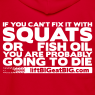 Design ~ Squats and fish oil