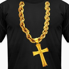 Bling Bling Gold Cross on Thick Gold Chain