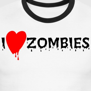 I Heart Zombies - Men's Ringer T-Shirt
