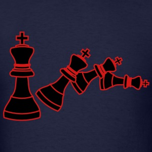 chess king falling - Men's T-Shirt