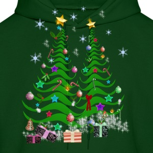 Artsy Christmas Tree and Decorations - Men's Hoodie
