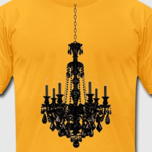 Long Chandelier Dangling From Your Neck - Men's T-Shirt by American Apparel