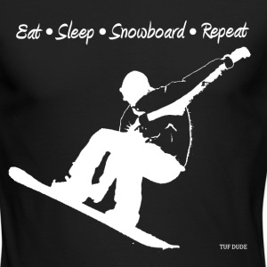 Eat Sleep Snowboard Repeat 002 - wb - Men's Long Sleeve T-Shirt by Next Level