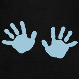baby - hands - handprint  Long Sleeve Shirts - Women's Long Sleeve Jersey T-Shirt