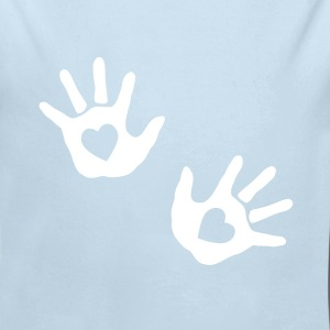 baby - hands - handprint - heart Baby Bodysuits - Long Sleeve Baby Bodysuit