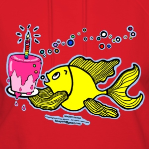 Happy Birthday, Fish with cake and candle  - Women's Hoodie