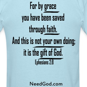Ephesians 2:8 verse - Men's T-Shirt