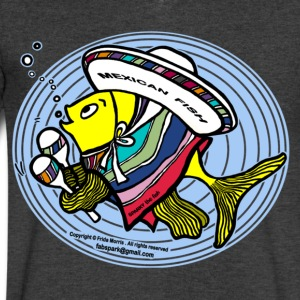 Mexican Fish - Men's V-Neck T-Shirt by Canvas