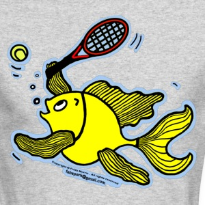 Tennis Fish, Fish Playing Tennis - Men's Long Sleeve T-Shirt by Next Level