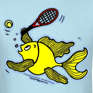 Tennis Fish, Fish Playing Tennis - Men's T-Shirt
