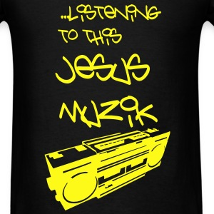 Jesus Muzik (Yellow Ink) - Men's T-Shirt