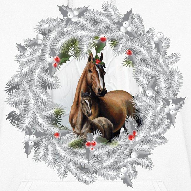 funky t shack christmas horse sweatshirt womens hoodie