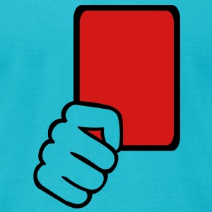 Red card Referee T-Shirts - Men's T-Shirt by American Apparel
