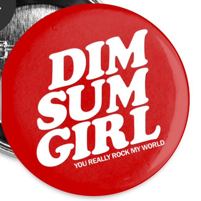Dim Sum Girl Red Buttons