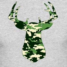 BUCK IN GREEN CAMO - VECTOR GRAPHIC Long Sleeve Shirts