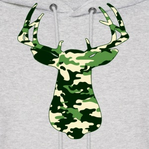 BUCK IN GREEN CAMO - VECTOR GRAPHIC Hoodies - Men's Hoodie