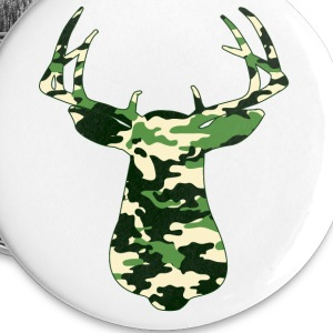 BUCK IN GREEN CAMO - VECTOR GRAPHIC Buttons - Large Buttons