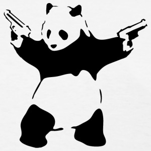 Banksy Panda with Guns T-Shirt - Women's T-Shirt