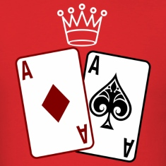 Poker Cards wit Crown T-Shirts