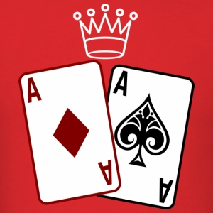 Poker Cards wit Crown T-Shirts - Men's T-Shirt