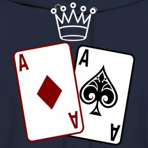 Poker Cards wit Crown Hoodies - Men's Hoodie
