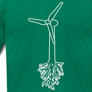 Think Green T-Shirts - Men's T-Shirt by American Apparel