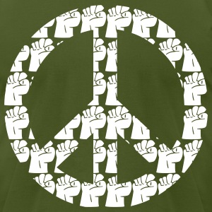 Kantno Peace Sign - Men's T-Shirt by American Apparel