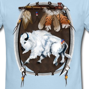 White Buffalo Sheild - Men's Ringer T-Shirt