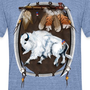 White Buffalo Sheild - Unisex Tri-Blend T-Shirt
