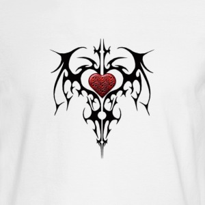 Tribal/Heart Long sleeve - Men's Long Sleeve T-Shirt