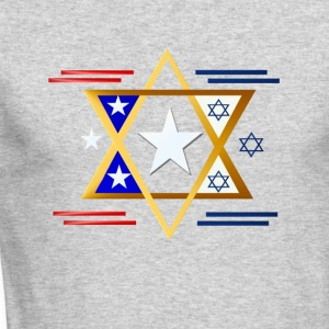 America-Israel - Men's Long Sleeve T-Shirt by Next Level