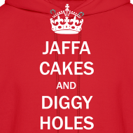 Design ~ Mens Hoodie: Jaffa Cakes/Diggy Holes