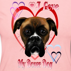 I Love  My Boxer Dog - Women's Long Sleeve Jersey T-Shirt