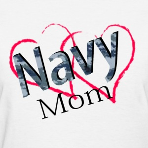navy mom Women's T-Shirts - Women's T-Shirt