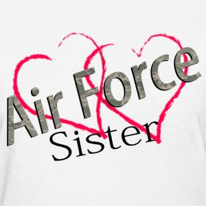 air force sister Women's T-Shirts - Women's T-Shirt