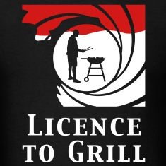 licence_to_grill_112011_b_2c_black T-Shirts