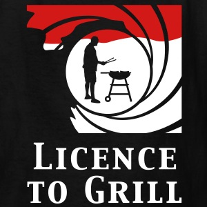 licence_to_grill_112011_b_2c_black Kids' Shirts - Kids' T-Shirt