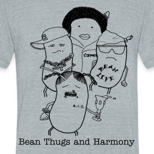 Bean Thugs and Harmony - Unisex Tri-Blend T-Shirt by American Apparel